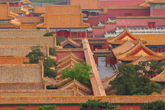 Tejados de la ciudad Prohibida en Pekín Foto de archivo