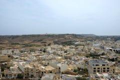 Tejados de la ciudad, Rabat Victoria, Gozo fotografía de archivo libre de regalías