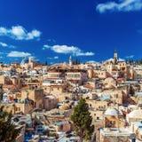 Tejados de la ciudad vieja con la bóveda de la iglesia de Santo Sepulcro, Jerusalén Imagenes de archivo