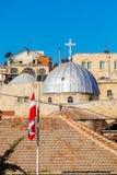 Tejados de la ciudad vieja con la bóveda de la iglesia de Santo Sepulcro, Jerusalén Fotos de archivo