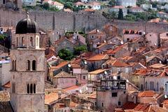 Tejados de la naranja de Dubrovnik Fotos de archivo