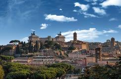 Tejados de la Roma Foto de archivo libre de regalías