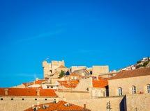 Tejados de la terracota de Croacia medieval Imagen de archivo libre de regalías