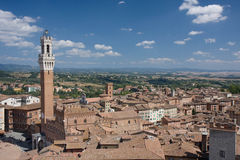 Tejados de la tierra de Siena Fotografía de archivo libre de regalías