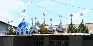 Tejados de las mezquitas fotografía de archivo libre de regalías
