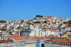 Tejados de Lisboa Imágenes de archivo libres de regalías