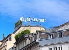 Tejados de los edificios en la calle de Ramistrasse en Zurich, Switzerl Fotografía de archivo