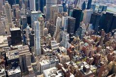 Tejados de Manhattan Foto de archivo libre de regalías