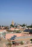 Tejados de Marrakesh Fotos de archivo libres de regalías