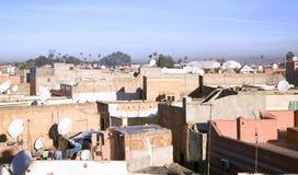 Tejados de Marrakesh Fotos de archivo