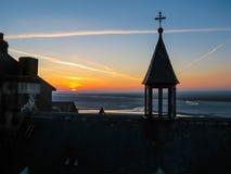 Tejados de Mont Saint-Michel, Francia Foto de archivo