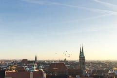 Tejados de Nuremberg, Baviera, Alemania, Fotos de archivo libres de regalías