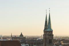 Tejados de Nuremberg, Baviera, Alemania, Imagen de archivo