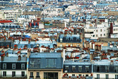 Tejados de París vistos en mayo de Sacré-Coeur Imagen de archivo libre de regalías