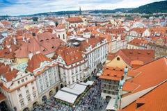 Tejados de Praga Imágenes de archivo libres de regalías