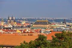 Tejados de Praga Foto de archivo