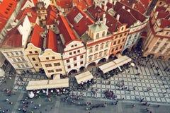 Tejados de Praga Imagen de archivo libre de regalías