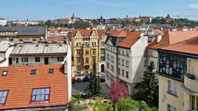 Tejados de Praga Imagenes de archivo