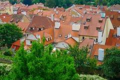 Tejados de Praga, República Checa Imágenes de archivo libres de regalías