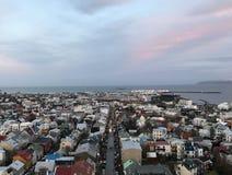 Tejados de Reykjavik foto de archivo libre de regalías