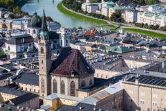 Tejados de Salzburg Imagen de archivo libre de regalías