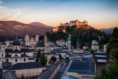 Tejados de Salzburg Foto de archivo