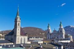 Tejados de Salzburg Imágenes de archivo libres de regalías