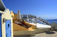 Tejados de Santorini Foto de archivo