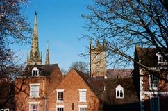 Tejados de Shrewsbury histórico, Inglaterra Foto de archivo