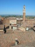 Tejados de Siena Fotos de archivo libres de regalías