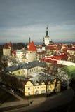 Tejados de Tallin Fotos de archivo libres de regalías