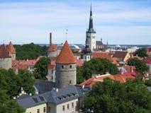 Tejados de Tallinn Imágenes de archivo libres de regalías