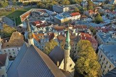 Tejados de Tallinn Estonia Fotos de archivo libres de regalías