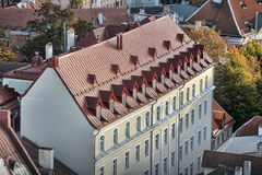 Tejados de Tallinn Estonia Fotografía de archivo
