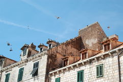 Tejados de teja en la ciudad vieja de Dubrovnik Croacia Fotografía de archivo libre de regalías