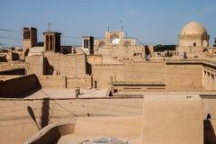 Tejados de Yazd Imagen de archivo libre de regalías