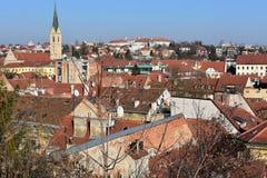 Tejados de Zagreb imagen de archivo