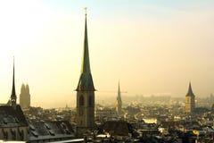 Tejados de Zurich fotos de archivo