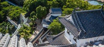 Tejados del castillo de Himeji fotografía de archivo libre de regalías