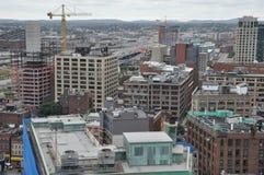 Tejados en Boston, Massachusetts Imagen de archivo libre de regalías