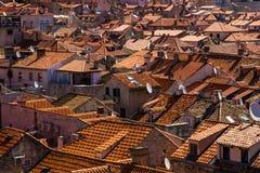 Tejados en Dubrovnik, Croacia Fotos de archivo