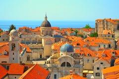 Tejados en Dubrovnik, Croacia Imagenes de archivo