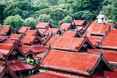 Tejados en el palacio de Mandalay Foto de archivo