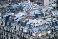 Tejados en París Fotografía de archivo libre de regalías