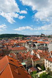 Tejados en Praga Foto de archivo