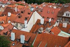 Tejados en Praga foto de archivo libre de regalías