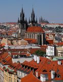 Tejados en Praga Fotos de archivo