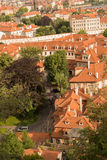 Tejados en Praga Imagen de archivo libre de regalías