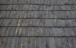 Tejados hechos de la madera Foto de archivo