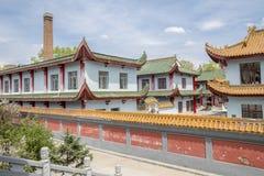 Tejados hermosos de la corte china del templo: JilieSi Harbin Imagen de archivo
